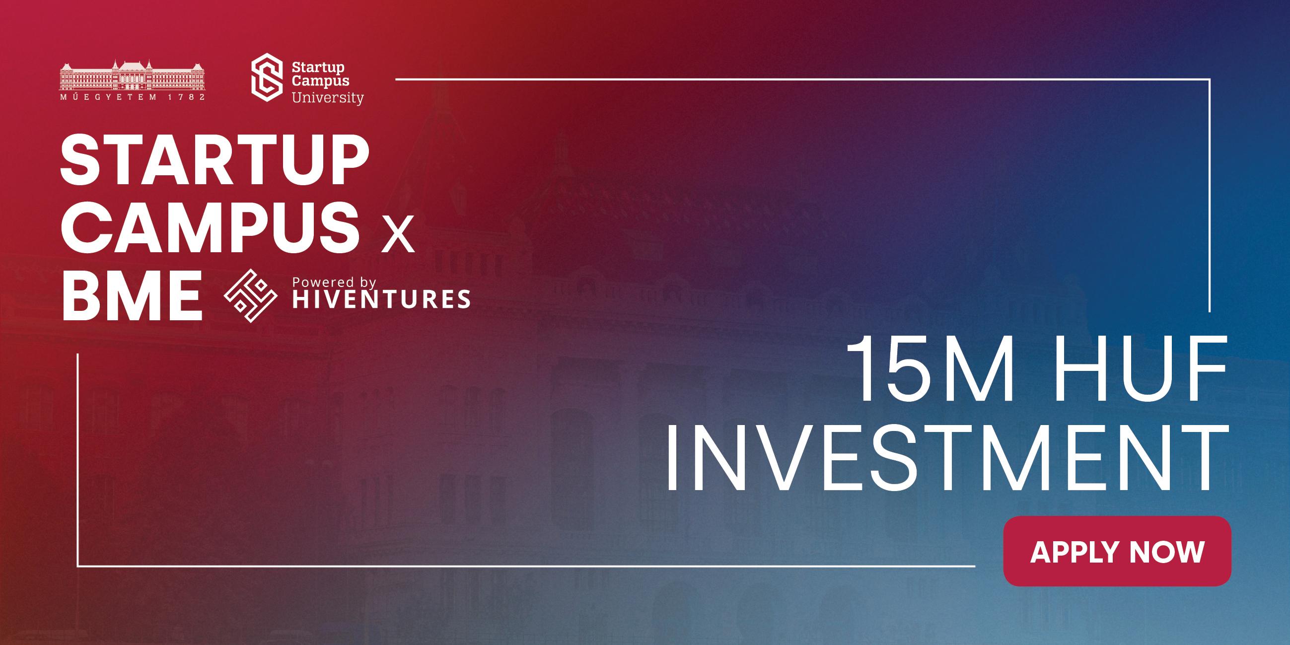 A Startup Campus x BME powered by Hiventures harmadik szemesztere októbertől indul!