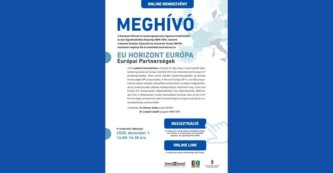 Read more about the article EU HORIZON EUROPE – Európai Partnerségek