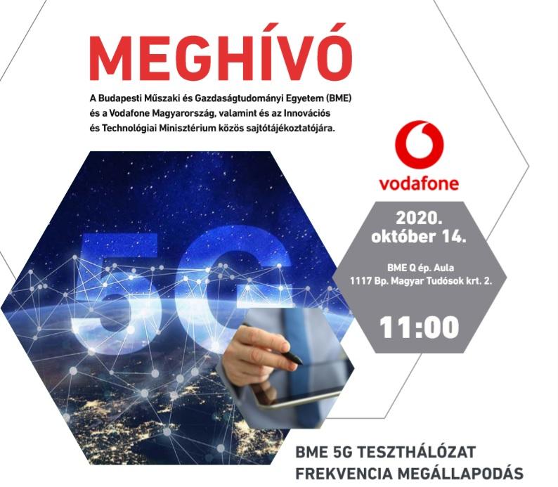 Sajtóközlemény – a  Műegyetem, a Vodafone, valamint és az ITM közös, 2020. október 14-i sajtótájékoztatója kapcsán